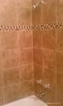 shower with tile detail.